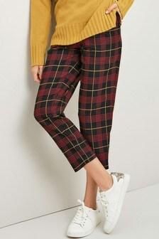 Tartan Taper Trousers
