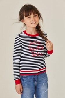 Stripe Smile Crew Sweater (3-12yrs)