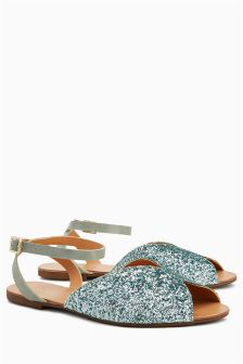 Glitter Two Part Sandals
