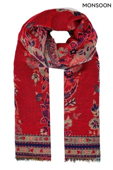 Monsoon Paisely Jacquard Blanket Scarf