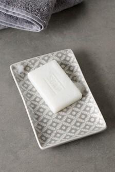 Grey Geo Soap Dish