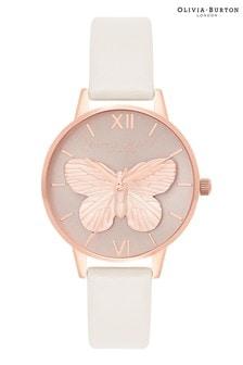Olivia Burton 3D Butterfly Blush & Rose Gold Watch
