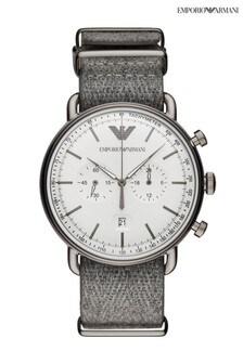 Emporio Armarni Grey Fabric Watch
