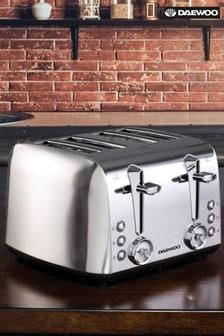 Daewoo Stainless Steel 4 Slot Toaster