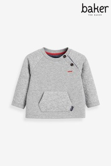 Baker by Ted Baker Boys Quilted Crew Neck Sweat