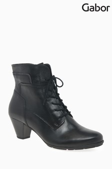 Gabor Black National Womens Modern Leather Ankle Boots