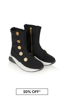 Balmain Boys Black Trainers