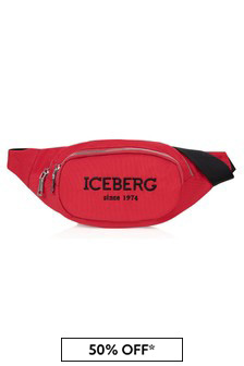 Ice Iceberg Boys Red Belt Bag