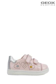 Różowe niemowlęce buty Geox Baby Girl's DJ Rock