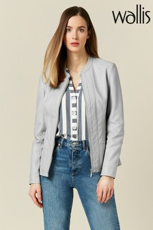 Wallis Grey Whitney Ponte Side Centre Front Jacket