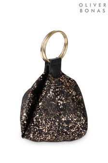 Oliver Bonas Grey Kai Luxe Ring Clutch Bag