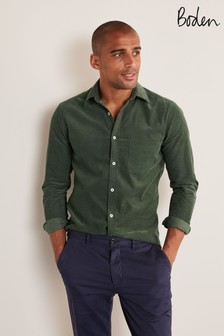Boden Washed Emerald Green Cord Shirt