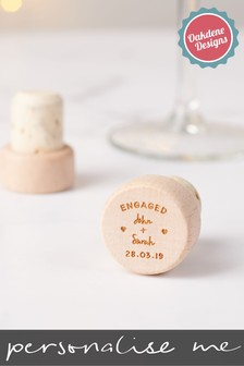 Personalised Engagement Bottle Stopper by Oakdene Designs