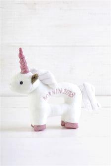 Born in 2018 Unicorn Rattle