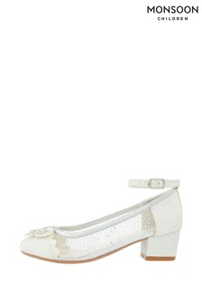 Monsoon Children Silver Amelia Butterfly Princess Shoes
