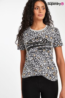 Superdry Grey Animal T-Shirt