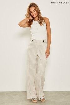 Mint Velvet Stripe Wide Leg Trouser