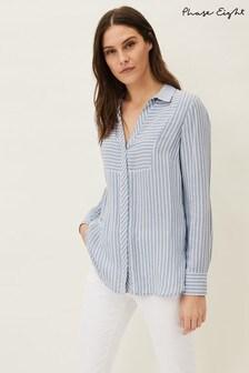 Phase Eight Blue Namastee Stripe Shirt
