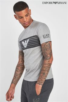 EA7 Carbon Marl Graphic Tee