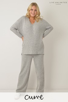 Live Unlimited Curve Grey Marl Lounge Trousers