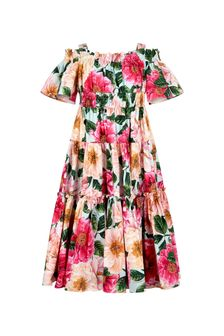 Dolce & Gabbana Kids Dolce & Gabbana Girls Pink Cotton Dress