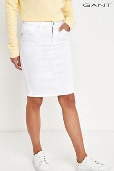 GANT White Denim Skirt