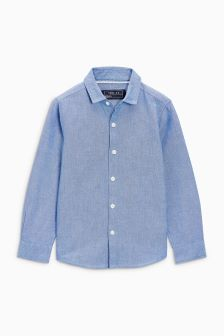 Long Sleeved Oxford Shirt (3mths-6yrs)