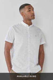 Short Sleeve Regular Fit Stretch Oxford Shirt
