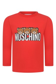 Baby Red Jersey Long Sleeve T-Shirt
