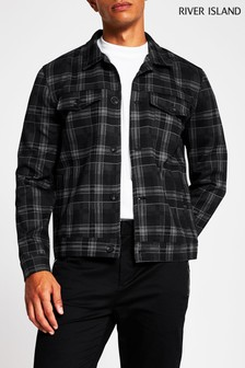 River Island Grey Check Western Jacket