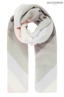 Accessorize Cream Pastel Chevron Blanket Scarf