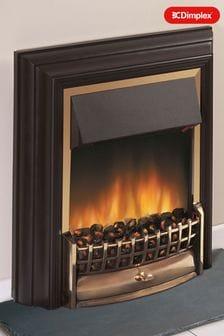 Dimplex 2kW Cheriton brass Electric Optiflame Freestanding Fire