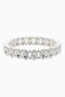 And Crystal Effect Stretch Bracelet