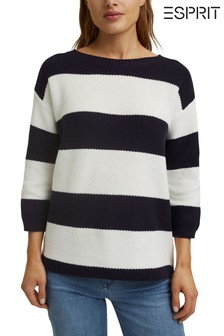 Esprit Blue Stripe Jumper