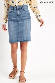 GANT Blue Denim Skirt