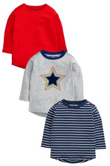 Rainbow Star Long Sleeve T-Shirts Three Pack (3mths-6yrs)