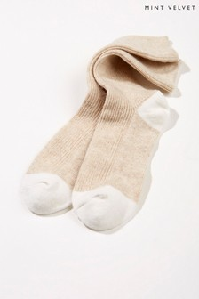 Mint Velvet Natural Stripe Back Socks