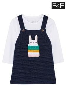 F&F Bunny Pocket Knitted Dress
