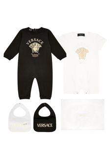 Versace Baby White Cotton Unisex Gift Set