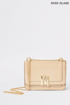 River Island Cream Embellished Satchel