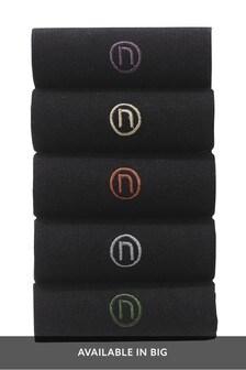 N Logo Embroidered Socks Five Pack