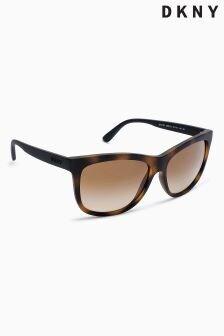 DKNY Tortoiseshell Matte Classic Sunglasses