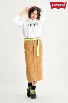 Levi's® Button Front Midi Skirt