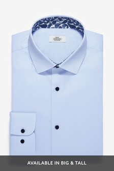 Cotton Shirt with Paisley Trim Detail