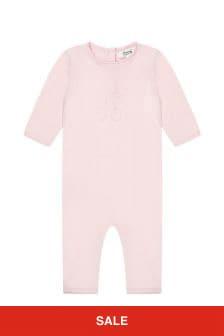 Bonpoint Baby Girls Pink Cotton Romper