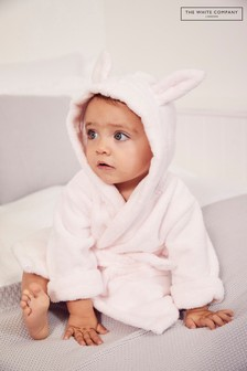 The White Company Pink Bear Ears Baby Robe