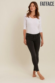 FatFace Overdye Black Harlow Super Skinny Jeans