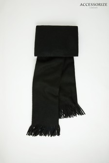 Accessorize Black Holly Supersoft Blanket