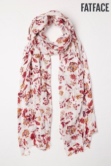 FatFace White Sequin Floral Scarf