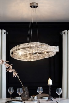 Venetian 10 Light Oval Pendant
